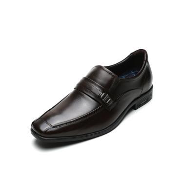 Sapato Social Couro Democrata Metal Marrom Democrata 250102-002 masculino
