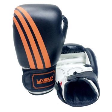 6527c6f04 Luva De Boxe Liveup Sports Ls3086d 14Oz Preto Branco Laranja