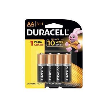 Pilha Alcalina Duracell AA Leve 4 - Pague 3