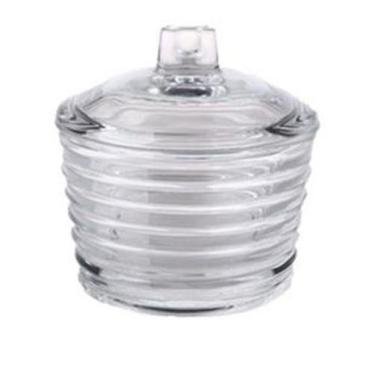 Açucareiro De Cristal Com Tampa Colmeia Lyor 10Cm