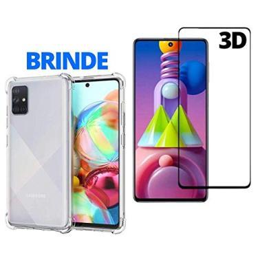 Película 3d Cobre 100% Tela E Capa Capinha Case Celular Compatível Samsung Galaxy M51 Brinde