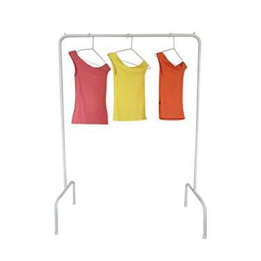 Imagem de Cabideiro para roupas Arara de chão em Tubo de Aço Branco