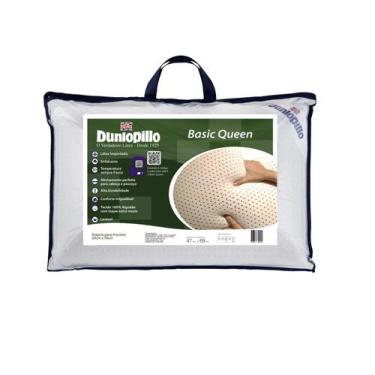 Imagem de Travesseiro 100%  Látex Natural Dunlopillo Basic Queen 50 X 70 Cm Orto