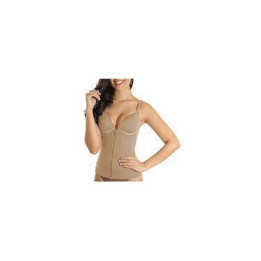 Imagem de Cinta modeladora camisete bojo zíper compressão feminina Vi Lingerie 330166 - Vi Lingerie - feminino