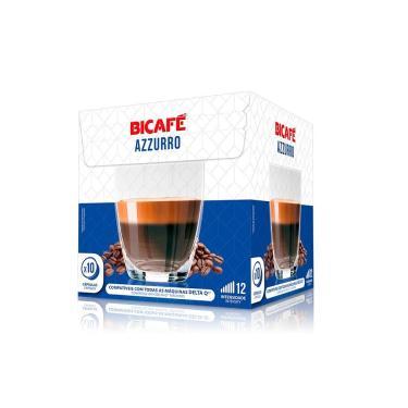 10 Cápsulas Café Azzurro Bicafé Forte e Encorpado Para Máquina Delta Q*