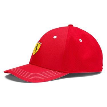 Boné Puma Ferrari Fanwear Baseball Strapback - Unico - Vermelho