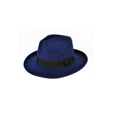 Chapéu Fedora Azul-Marinho - Aba Média