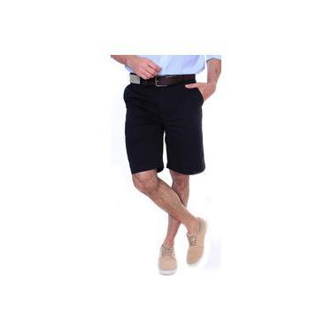 Bermuda De Sarja Masculina Reta 100% Algodão