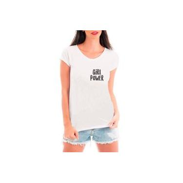Camiseta Blusa T shirt Bata Criativa Urbana Girl Power