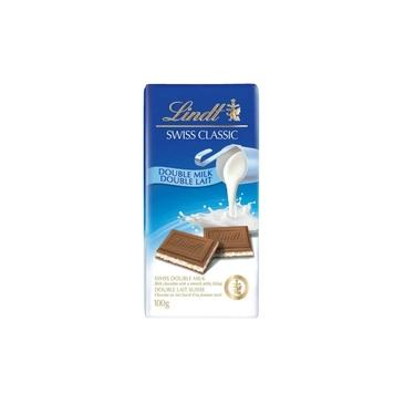 Chocolate Recheado Lindt Swiss Classic Double Milk 100g Importado da Suíça