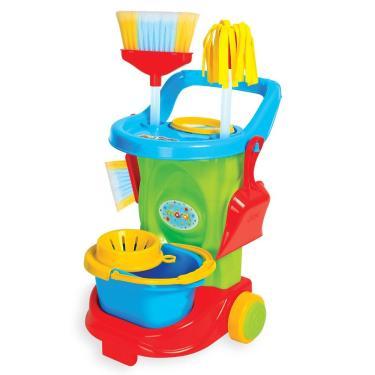Imagem de Kit De Limpeza Infantil Cleaning Trolley - Maral Verde