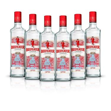 Kit Gin Beefeater London Dry 750ml - 6 Unidades