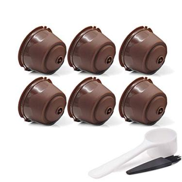 Cápsulas de café reutilizáveis para cafeteiras Nescafe Dolce Gusto (versão regular, marrom)
