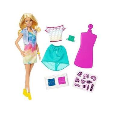 Boneca Barbie Criações Com Carimbos Crayola Mattel FRP05