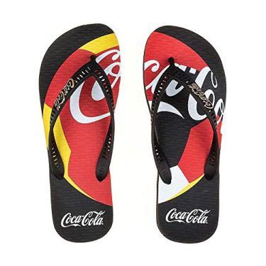 Chinelo Coca-cola Bola Países Unissex - Preto - 33-34