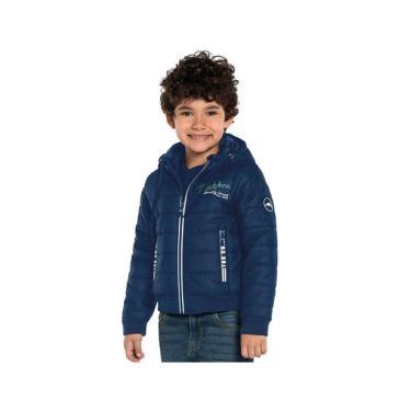 Jaqueta Infantil com Capuz e Patch Trick Nick Azul Trick Nick