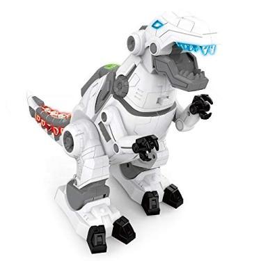 T- Rex Dinossauro Com Luz E Som - Boneco Infantil Luz E Som E Movimento Mecanico Dinossauro robô Robô dinossauro brinquedo Super robô Dinossauro