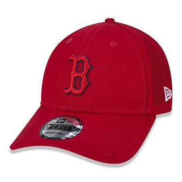 BONE 9FORTY MLB BOSTON RED SOX URBAN TECH OVERLAP ABA CURVA SNAPBACK VERMELHO New Era