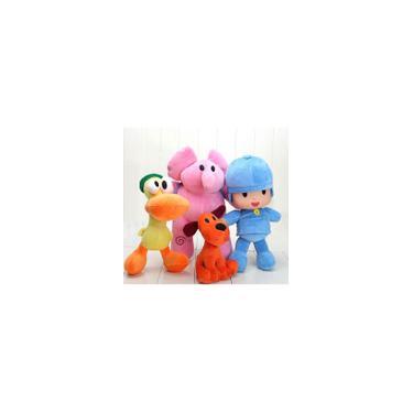 Imagem de Turma do Pocoyo Pelúcia Coleção com 4 Personagens Pocoyo Elly Pato e Loula