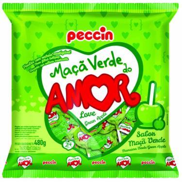 Pirulito Maçã Verde do Amor 480g Peccin 1015988