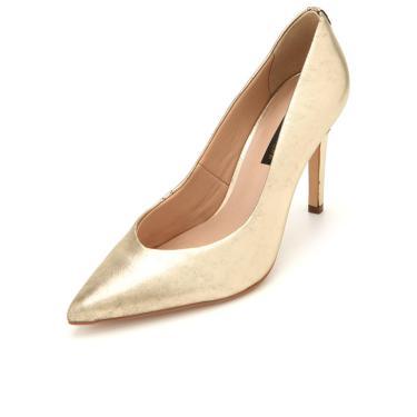 Scarpin Couro Jorge Bischoff Metalizado Dourado Jorge Bischoff J40258029A07 feminino