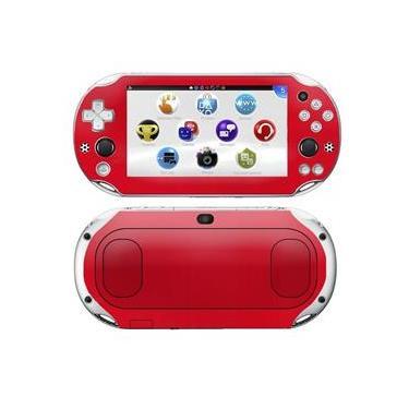 Kit Skin Adesivo Protetor PS VITA Playstation 2000 Slim (Vermelho)