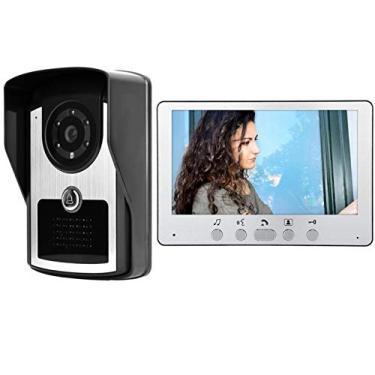 Imagem de Câmera campainha, interfone video porteiro à prova d'água de parede de 7 polegadas para(European standard (110v-240v))