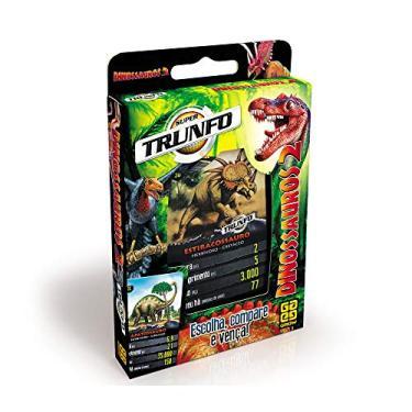 Imagem de Grow - Super Trunfo Dinossauros 2 Jogo de Cartas, Multicolorido, (Grow 9678)