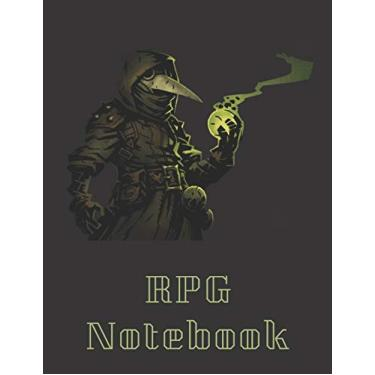 """RPG Notebook: Plague Doctor From Darkest Dungeons Edition - Mixed paper: Hexagon, Dot Graph, Dot Paper, Pitman: For role playi ng gamers: Notes, ... plans (8.5"""" x 11"""" - A4 Size, 150 Pages)"""