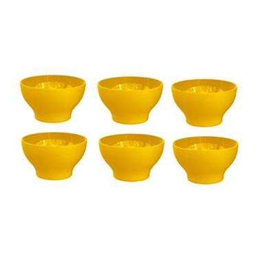 Kit 6 Cumbucas Tigela 500ml Plástico UZ Utilidades Amarelo