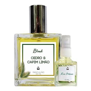 Imagem de Perfume Cedro & Capim Limão 100ml Masculino - Blend de Óleo Essencial Natural + Perfume de presente