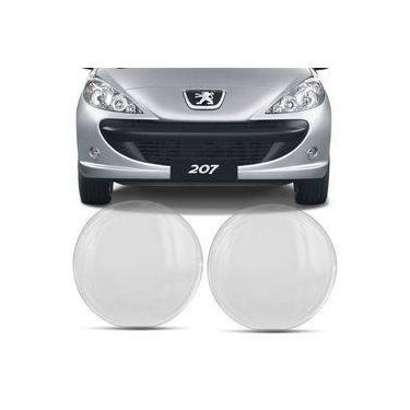 Lente Farol de Milha Peugeot 207 2006 2007 2008 2009 2010 Transparente