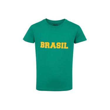 a798262f28ae4 Camiseta do Brasil Fan 2018 nº 10 Adams - Infantil - VERDE Adams