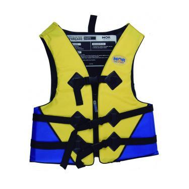 Colete Salva-Vidas 60kg 1734 Amarelo/Azul - Mor