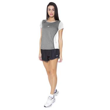 Speedo Match , Camiseta de Manga Curta, Mulheres, Branco, M