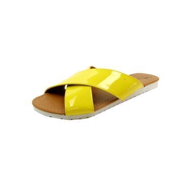 Rasteira Café Brasil Flatform Amarelo  feminino