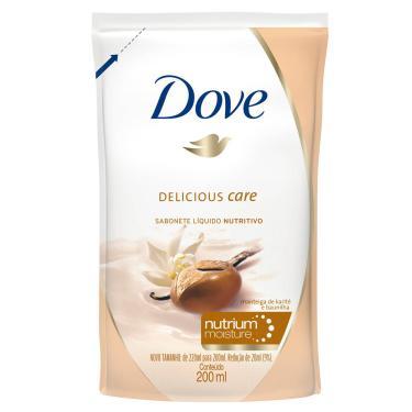 Refil Sabonete Líquido Dove Delicious Care 200ml