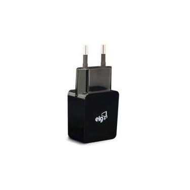 Carregador USB ELG Universal Preto 1 saida WC1APT