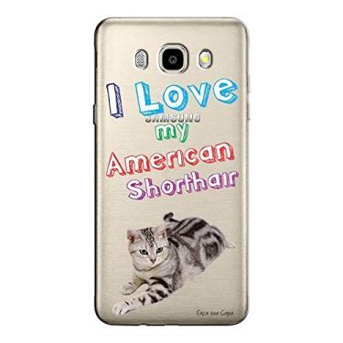 Capa Personalizada para Samsung Galaxy J7 2016 Eu Amo Meu American Shorthair - TP89