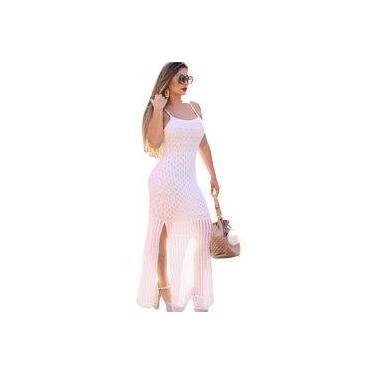 Vestido Longo Livora Tiras Branco