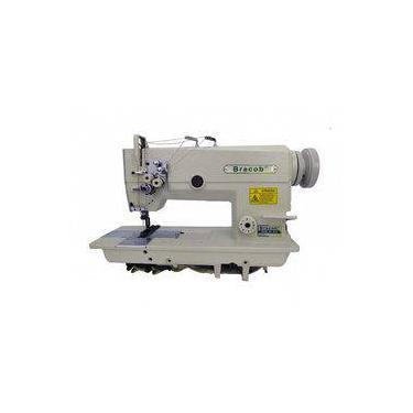 Máquina De Costura Industrial Pespontadeira Dupla Completa, Barra Fixa, 2 Agulhas, 4 Fios - Bracob