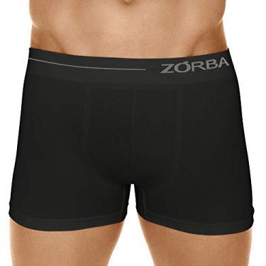 Cueca Boxer Microfibra Side, Zorba, Masculino, Preto, G