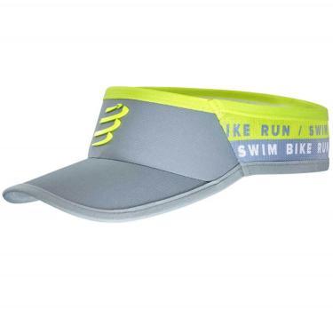 Viseira Ultralight Compressport - Swim-Bike-Run - Cinza / Fluo