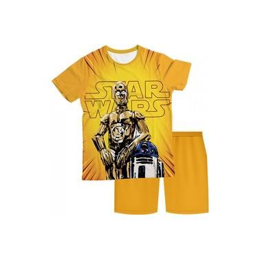 Pijama Infantil Star Wars Amarelo PJMC