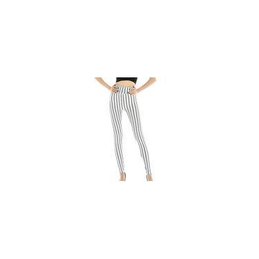 Feminino feminino elástico tricô listrado cintura alta calça ioga calça esportiva