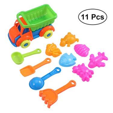 Imagem de TOYANDONA Caixa de Areia da Praia de Plástico Brinquedos Brinquedos de Praia Caminhão Material Do Jogo de Areia De Dragagem De Areia Moldes Set Caixa de Areia Da Praia Brinquedos de Praia