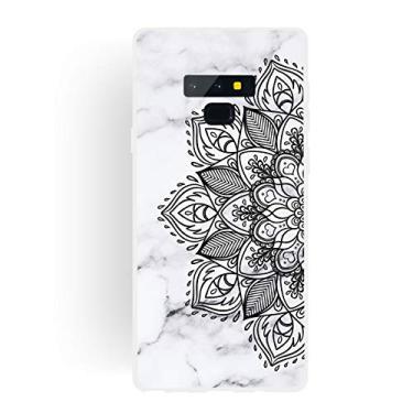 Capa Grandcase para Galaxy Note 9, ultrafina, gel de silicone [design de mármore] capa de proteção TPU macia com absorção de choque para Samsung Galaxy Note 9 de 6,5 polegadas – meia flor