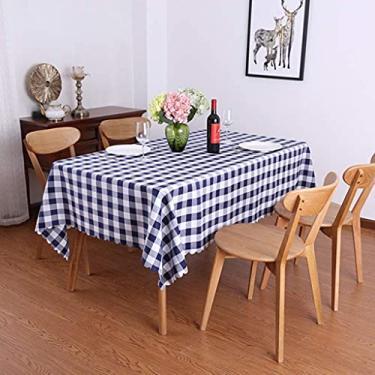 Imagem de Toalha de mesa retangular 140 * 180 cm, Toalha de mesa de vinil, retângulo com suporte de flanela, para decoração de festas descartável, tampa de mesa de jantar quadrada de plástico, à prova