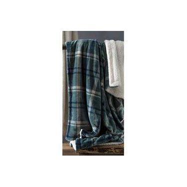930a18b6ba Manta Queen Escócia Xadrez Azul 100% Poliéster Home Design Corttex