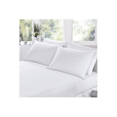 Jogo lençol cama queen size 4 peças percal 200 fios 100% algodão